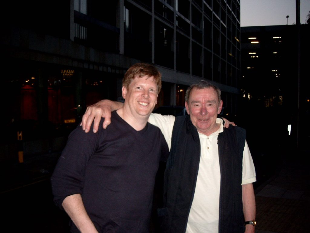 David with Alistair Taylor, Brian Epstein's PA