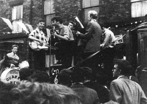 22nd June 1957: Charlie Roberts photographs The Quarrymen!