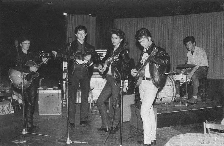 Stu with The Beatles in Hamburg