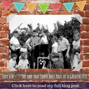 6th July 1957 – Part 3: John Lennon meets Paul McCartney