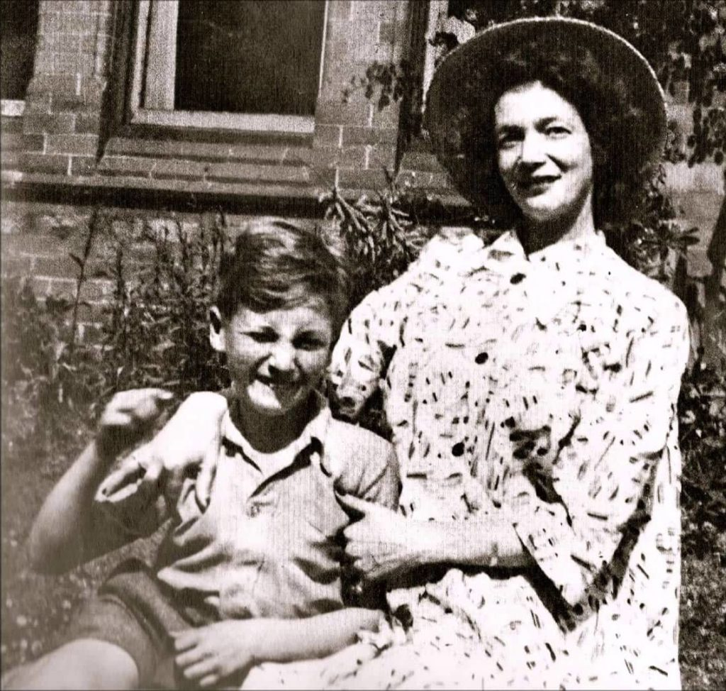 John Lennon with his mother, Julia