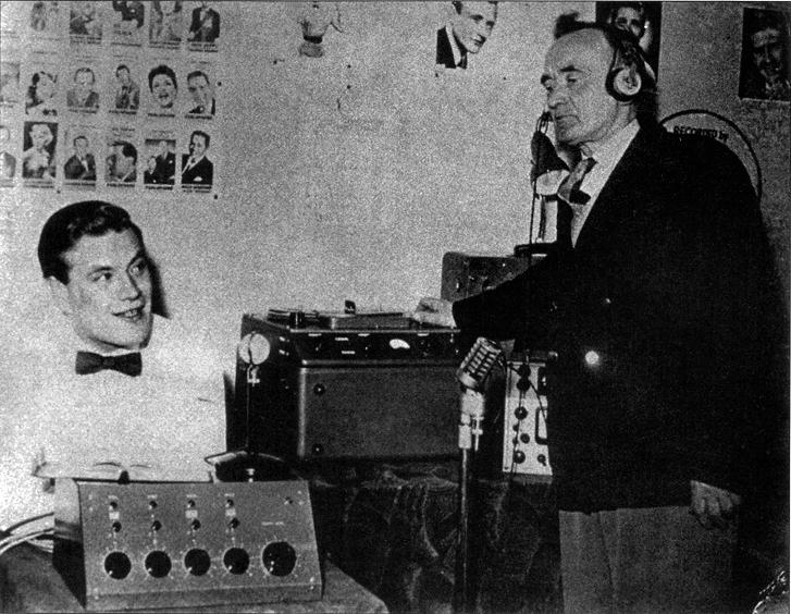 Percy Phillips in his studio