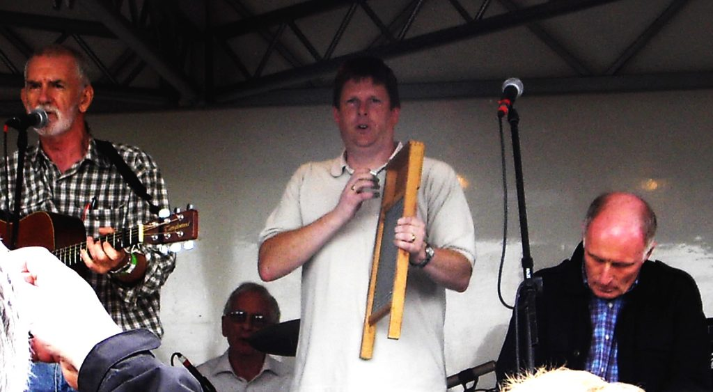 David playing with The Quarrymen