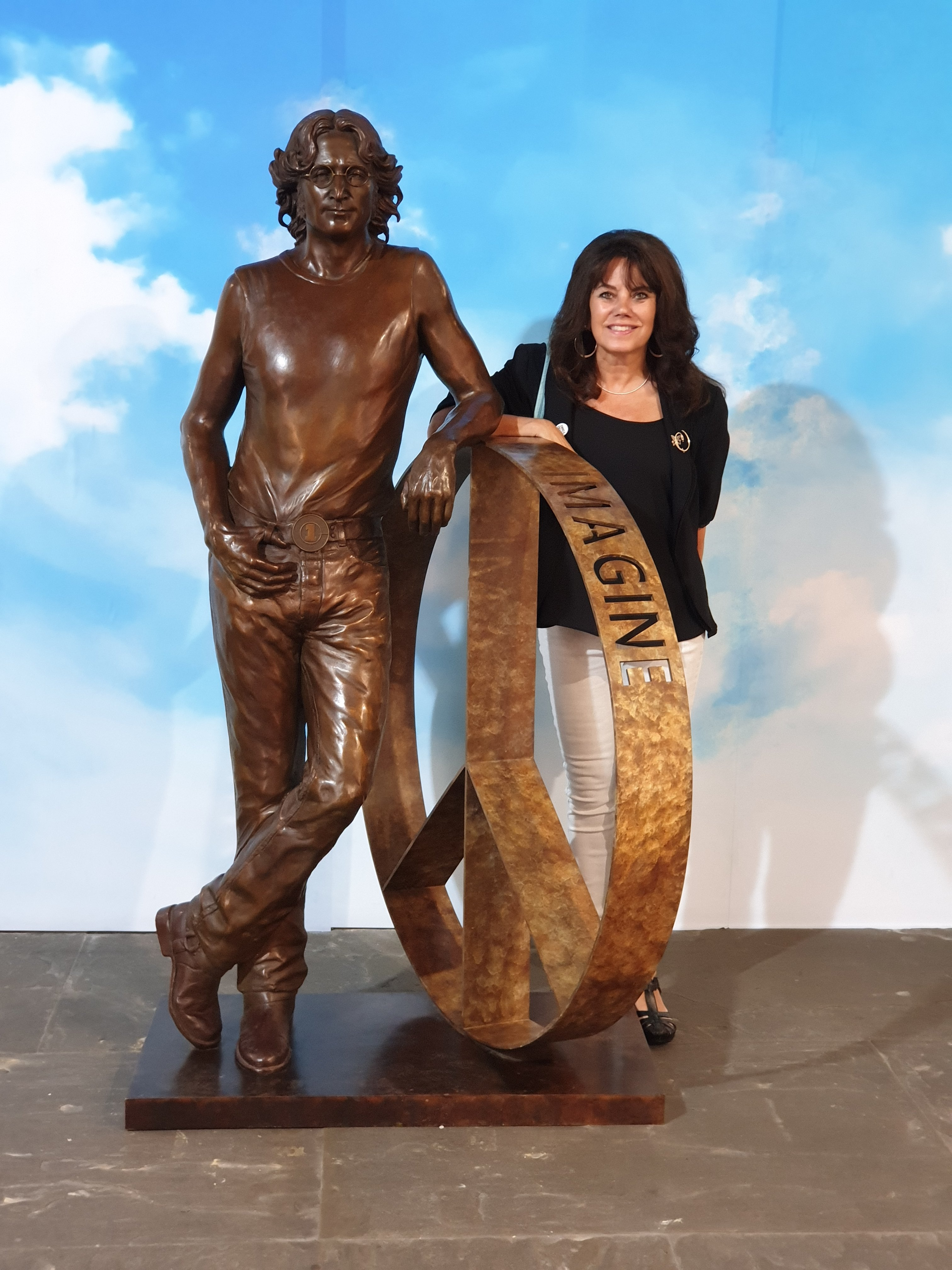 Statue of John Lennon on display in St George's hall until the end of August