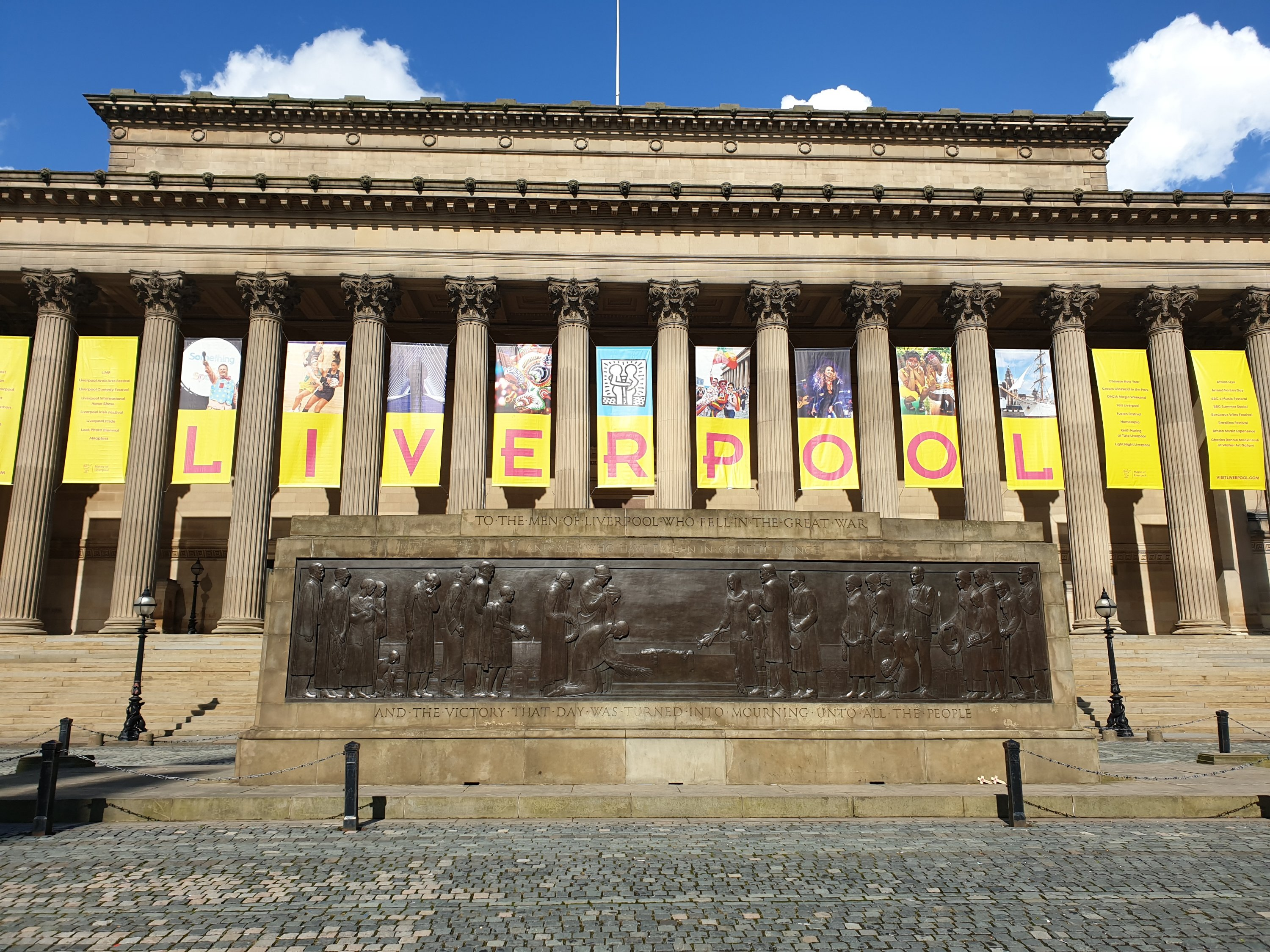 Visit the statue of John Lennon at St George's Hall, Liverpool