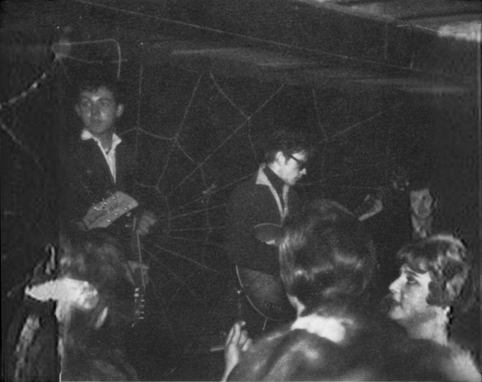 The Beatles at The Casbah; Paul McCartney, Stuart Sutcliffe and Pete Best