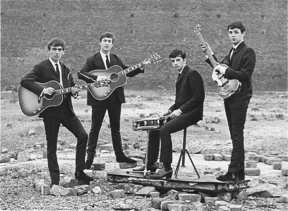 The Fab Four - George, John, Ringo and Paul. This was Ringo's first photo shoot after he became The Beatles drummer