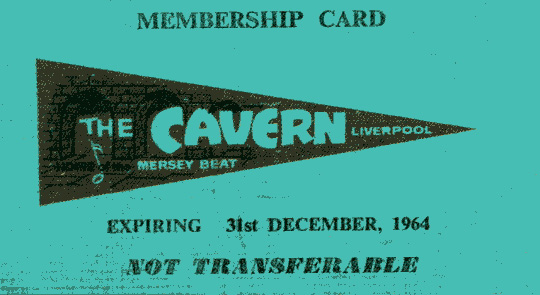 A Cavern Club membership card