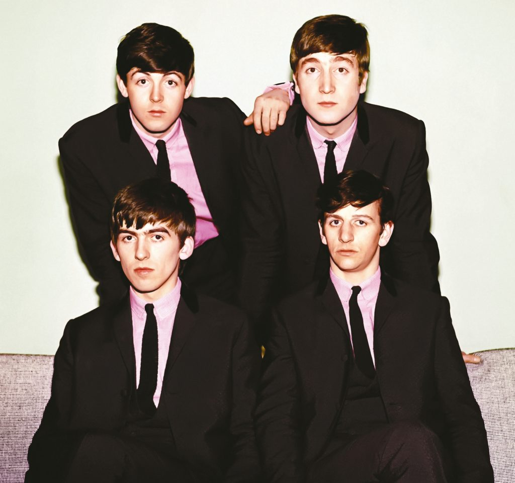 The Fab Four: Paul McCartney, John Lennon, George Harrison, Ringo Starr, who last played at The Cavern on 3rd August 1963