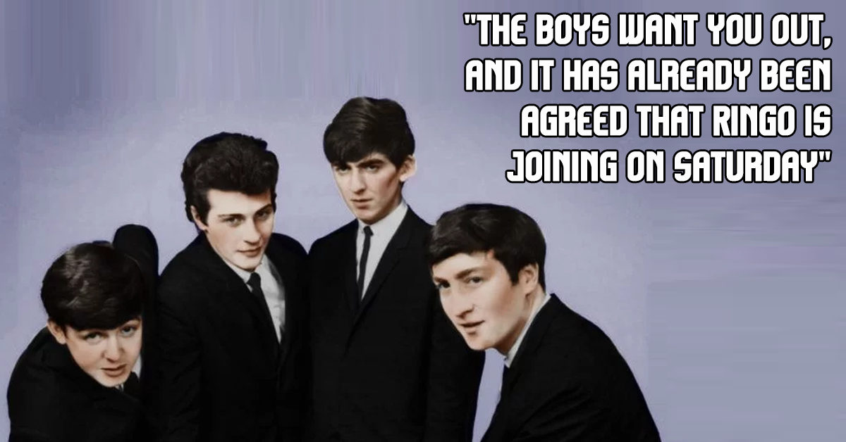 Pete Best was not technically sacked by Brian Epstein