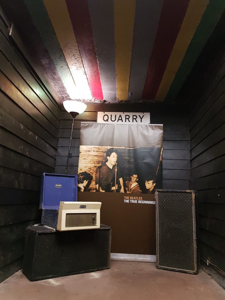 The first stage where The Quarrymen performed; Paul McCartney's painted ceiling is still there