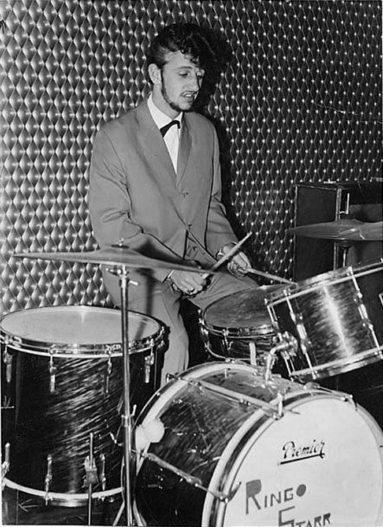 Ringo Starr playing drums with Rory Storm and the Hurricanes