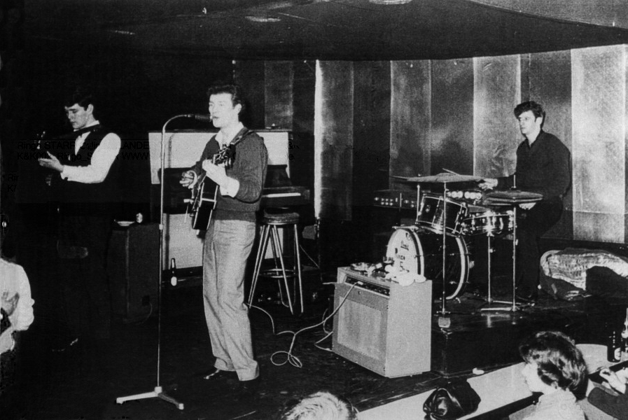 Ringo playing drums with Tony Sheridan in Hamburg