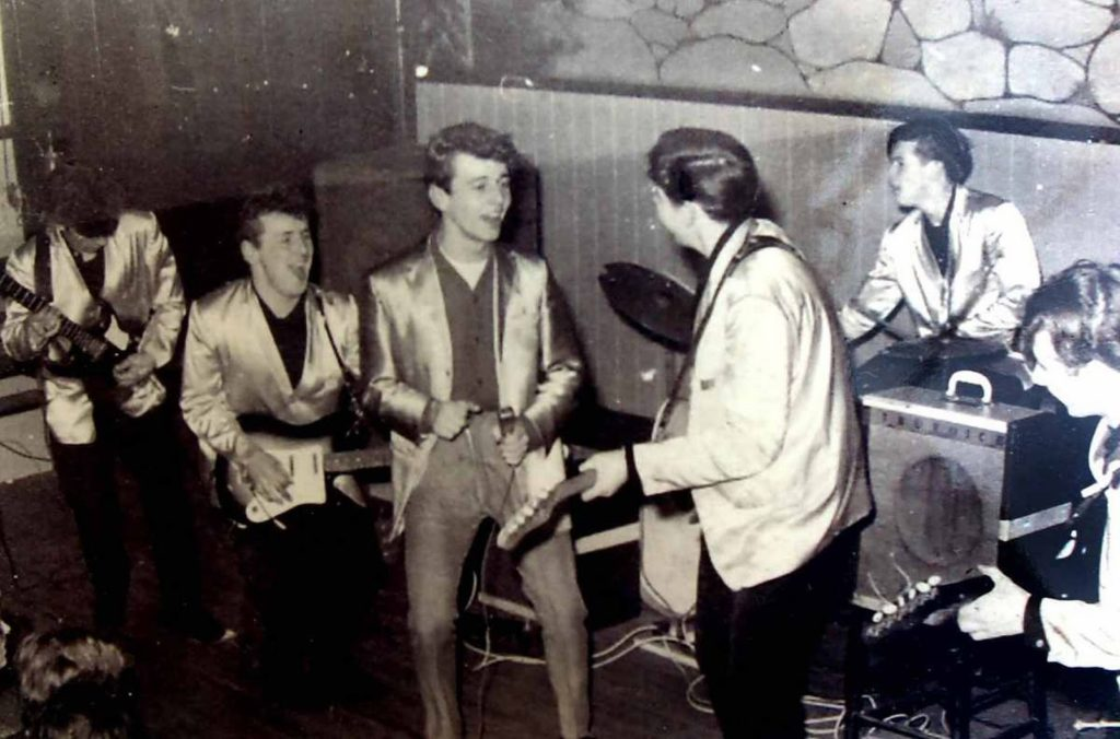 Ritchie Galvin on drums was asked by Brian Epstein to replace Pete Best in The Beatles
