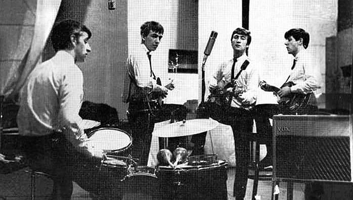 The Beatles at Abbey Road on 4th September 1962; Ringo Starr, George Harrison, John Lennon and Paul McCartney