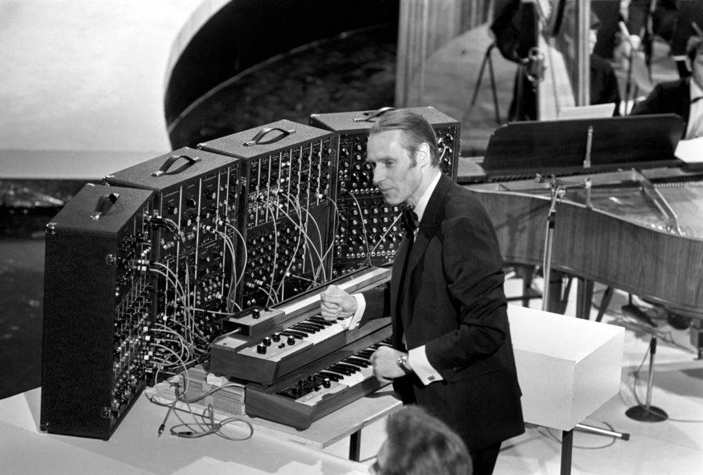 Beatles Producer George Martin in EMI Studios