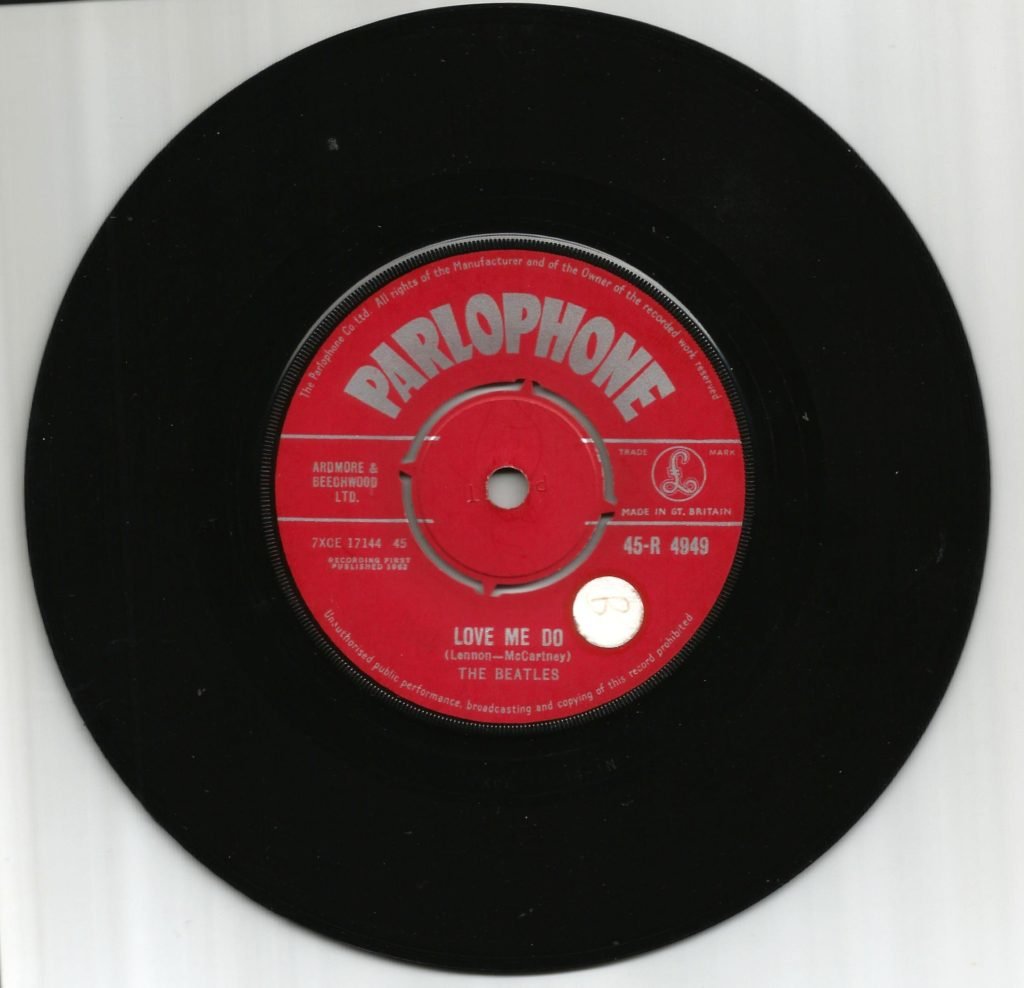 Love Me Do, The Beatles first single, with Ringo Starr on drums