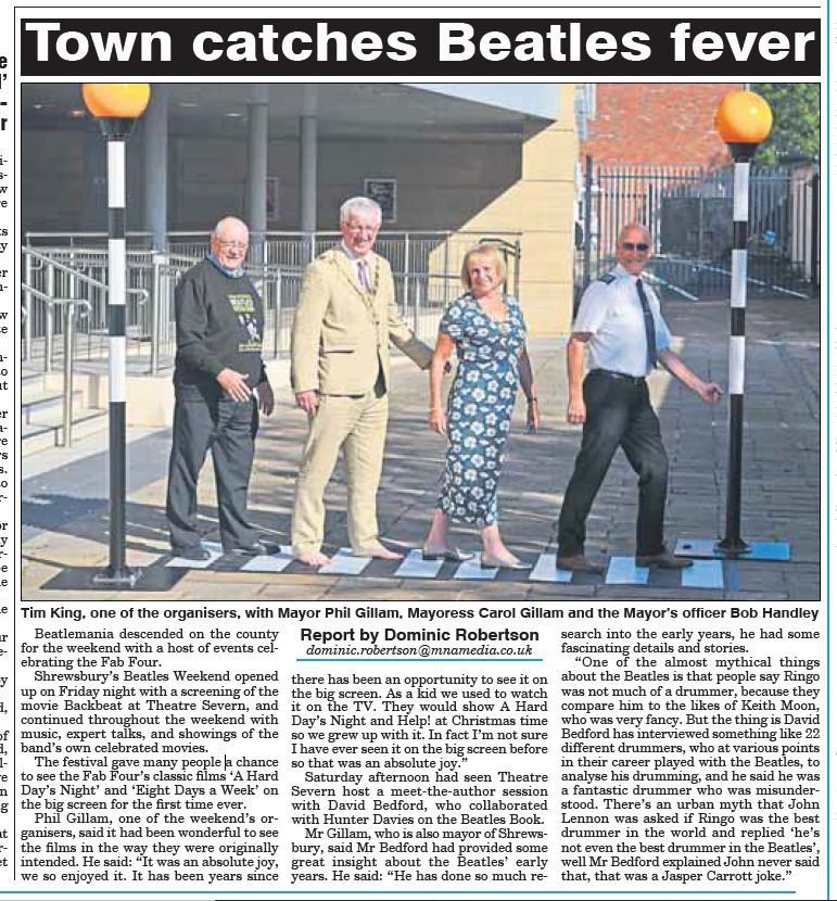 The Beatles weekend in the news