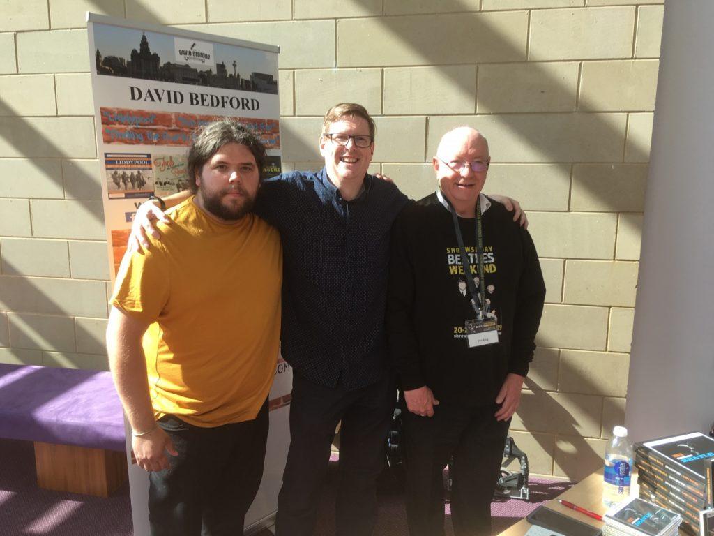 Local Beatles historian Thomas Perring, David Bedford and Tim King