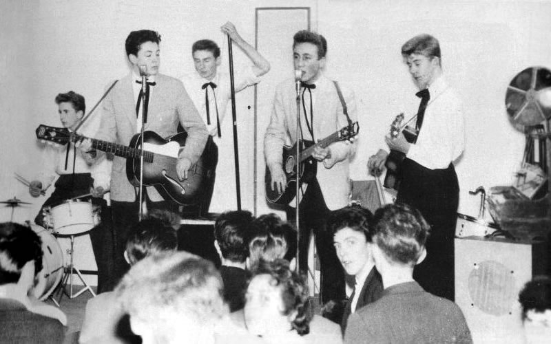 The Quarrymen performing at New Clubmoor Hall