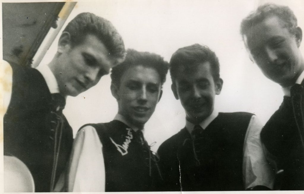 Mike Rice (second from left)