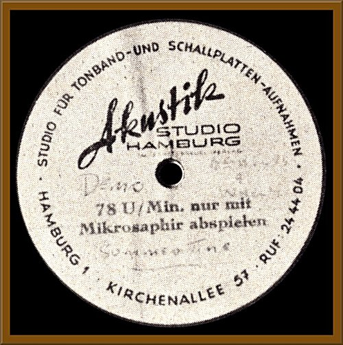 """Summertime"" - Record made by Lou Walters, Ringo Starr, John Lennon, Paul McCartney and George Harrison in Hamburg"