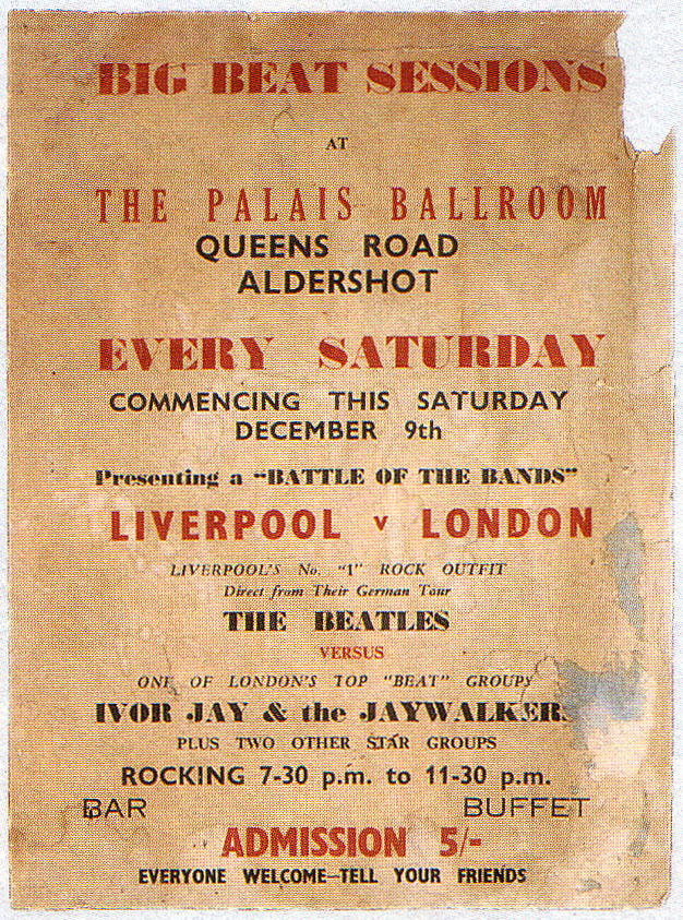 The Beatles poster for Aldershot